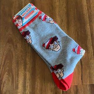 Other - NWT Where's Waldo? Socks